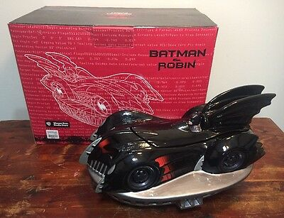 Warner Brothers DC Comics Batmobile Batman & Robin Cookie Jar 1997 • 29.30£