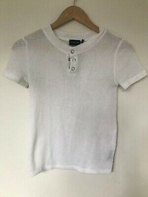 AU20 • Buy URBAN OUTFITTERS Out From Under DarbyHenley Tee White Polo Style Textured Cotton