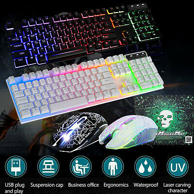 AU22.99 • Buy Gaming Keyboard And Mouse Ergonomic Mechanical USB Backlight For PS4 PC Xbox T6