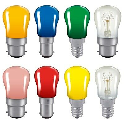 Coloured Pygmy Light Bulbs 15w Crompton Branded BC SBC SES Sign Light Bulb Lamp • 4.65£
