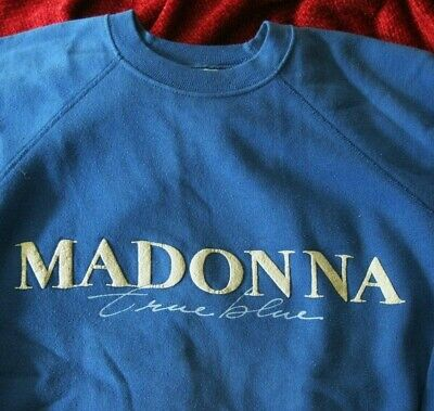 $ CDN240 • Buy Madonna MEGA RARE True Blue Album SIRE WB Promo Sweatshirt RAISED GRAPHICS 1986