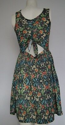 TOPSHOP Hype Concession Floral Sleeveless Dress Size 12 • 12.99£