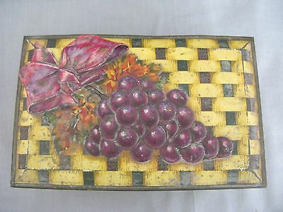 A 1950s Jacobs Biscuit Tin With Raised Grape Design • 18£