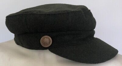 cd821b5ba52ac Adults Beret Hat Cap Army Green Metal Crest Buttons Wool Blend Military  Look New • 20.00