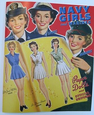 $12 • Buy WWII Era - NAVY GIRLS AND MARINES Paper Dolls - 1940s Fashions/military Uniforms