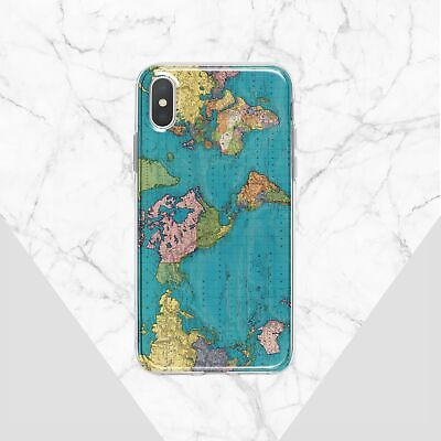 £10.61 • Buy World Map IPhone 11 XR Case Globe IPhone 6 6s X Cover Earth IPhone XS 7 8 Case