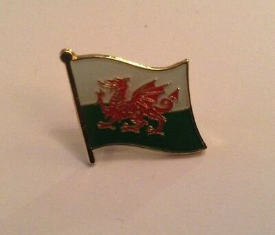 Welsh Wales Country Flag Enamel Pin Badge • 2.39£
