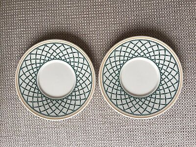 2 X Villeroy And Boch Basket Coffee Cup Saucers • 8.99£