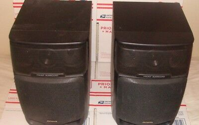 $35 • Buy Pair Of  Aiwa Surround, Bookshelf Speakers 4 Way 50/20W SX-FNV50 PIC- UP -LI NY