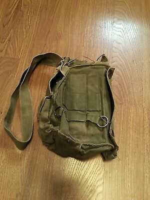 $20 • Buy Vintage M17 A1 Us Army Gas Mask Chemical-biological Canvas Bag