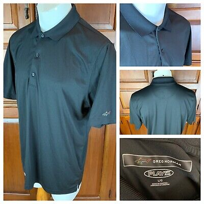 0cba8ce8 Greg Norman Play Dry Men's Large Black Moisture Wicking Polyester Polo Shirt  • 9.99$
