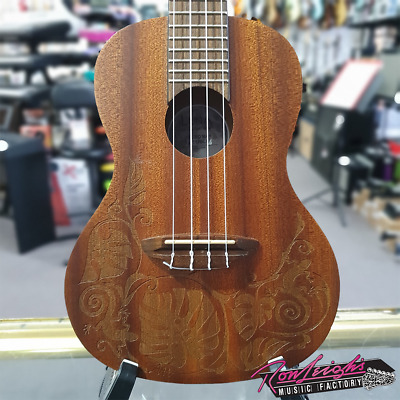 AU219 • Buy Luna Mo Mah Mahogany Body Concert Ukulele With Big Bag