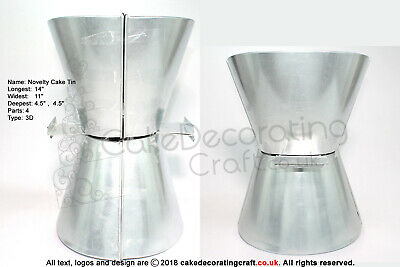Novelty Cake Baking Tin - 3D Lady Corset - 18  High - 4 Parts • 9.49£