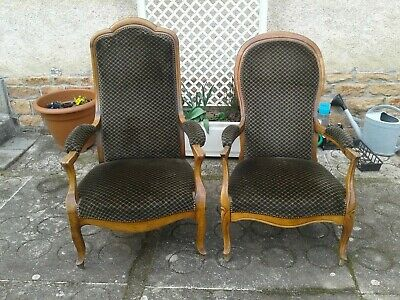 £195 • Buy French Antique Vintage Louis XV Style Armchairs