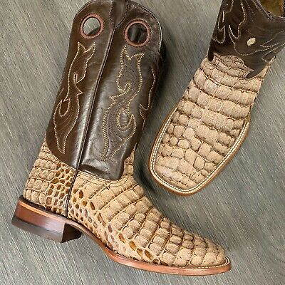 $99.99 • Buy Men's Rodeo Cowboy Boots Coco Alligator Print Western Square Toe Boots Tan Color