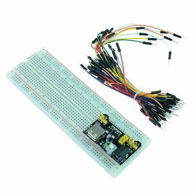 £4.99 • Buy 830 Point Solderless PCB Breadboard + 65pcs Jumper Cable + Power Module