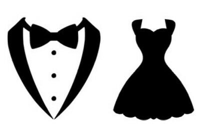$ CDN6.18 • Buy Tuxedo And Dress Vinyl Decal Silhouette Wine Glass Stickers Wedding Art & Crafts