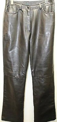$ CDN58.05 • Buy Danier Women Pants Leather Black 6 Flat Front 26 Inches Boot Legs Lined Canada