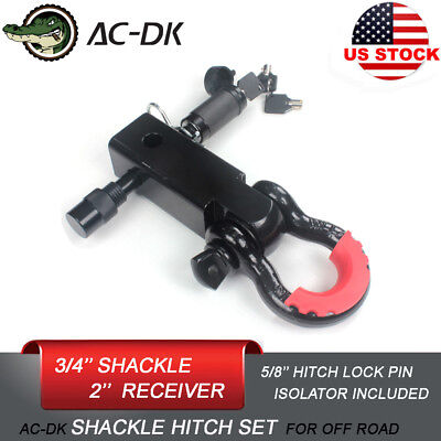 $35.90 • Buy AC-DK 3/4'' D-Ring Shackle Tow Hitch With 5/8  Pin Lock And Shackle Isolator