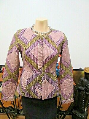 AU45 • Buy Tigerlily Jacket Mauve/Green/Nude/Black Long Sleeve With Pockets Size 8/10
