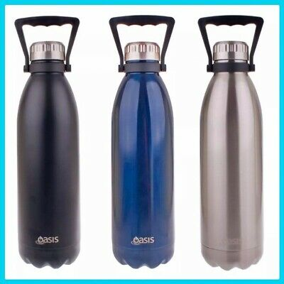 AU36.50 • Buy Oasis Drink Bottle 1.5L Double Walled Vacuum Insulated Stainless Steel Water