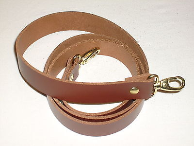 1  Tan / Medium Brown Leather Shoulder Bag Replacement Strap Gold Fittings • 12.99£