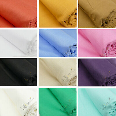£7.99 • Buy 100% Natural Cotton Linen Mix Soft Fabric Material, 60  Wide, 30 Colors
