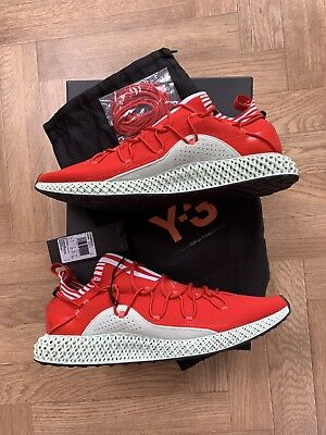 Adidas Y3 Futurecraft 4D Red Uk Size 10 Boxed New Limited Shoe • 1,050£