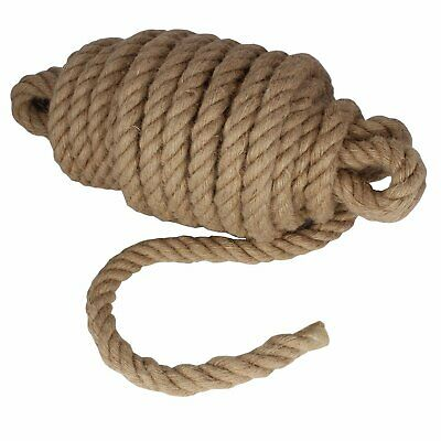 £1.08 • Buy 28mm Thick Natural Jute Hessian Rope Cord Braided Twisted Decking Boating Garden