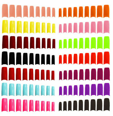 £2.95 • Buy 500 X  False Fake Nails Acrylic Nail Tips Multiple Colours And Sizes Cheapest