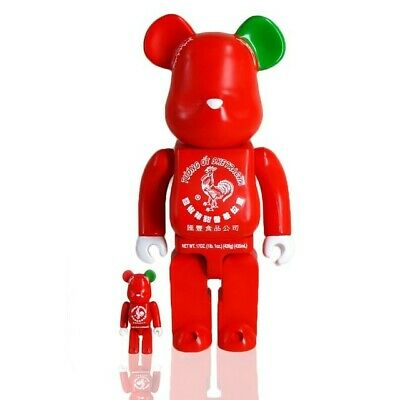 $220 • Buy Medicom Be@rbrick BAIT Sriracha 100% 400% Bearbrick Figure Set