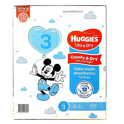 AU82.99 • Buy Huggies Ultra Dry 184 Crawler Boys Disposable Nappies -6-11kg Jumbo Pack