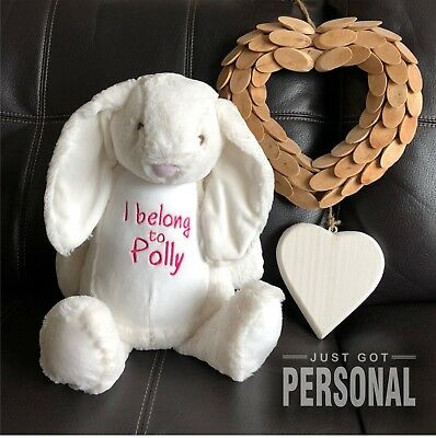 £19.95 • Buy Personalised Bunny - I Belong To - Cuddly Soft Toy