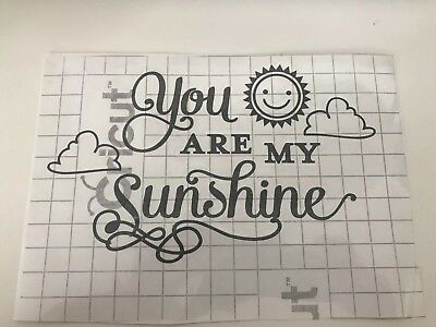 🌞 You Are My Sunshine Vinyl Nursery Baby Car Personalise Wall Car Book Quote🌞 • 2.99£