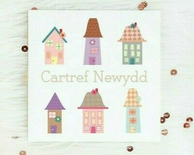 Welsh Congratualtions New Home Card Housewarming Moving New House Cartref Newydd • 3£