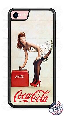 AU15.53 • Buy Customize Coca- Cola Pin-up Girl Phone Case Cover Fits IPhone Samsung Google Etc