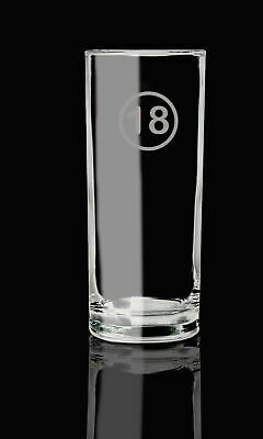 Highball Glass 18th Birthday, 18 Today Hand Etched Glass Ideal Gift.124 • 14.99£