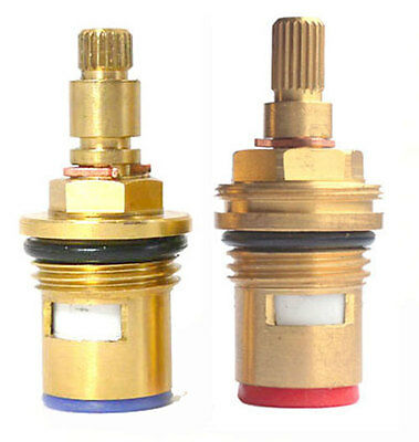 Replacement Brass Ceramic Disc Tap Cartridge Valve Quarter Turn 24 TEETH 1/2  • 8.99£