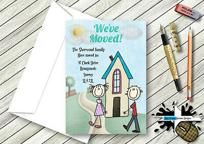 Personalised We've Moved,new Home Cards Various Designs Available • 5.29£