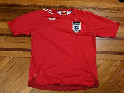 $16.96 • Buy England Soccer Jersey Umbro Official Clothing Red Sports Shirt