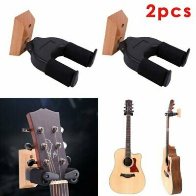 AU32.90 • Buy 2 X Guitar Ukulele Bass Short Slotted Hook Hanger Holder Wall Mount Stand Rack