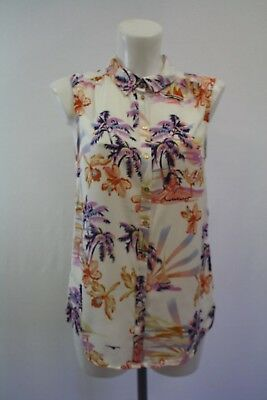 Ladies New George Tropical Print Shirt Blouse Size 8 10 12 14 16 18 20 22  • 9£
