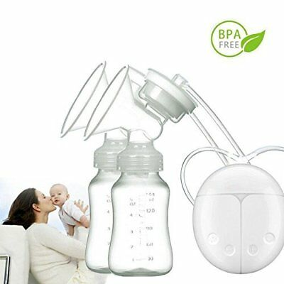 View Details Electric Hand Free Double Breast Pump Automatic Intelligent Baby Feeder USB UK • 13.99£