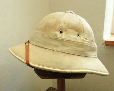 Original Military WW1 Pith Helmet Sun Tropical Hat 12 Fold Wolseley Style (5136) • 179.99£