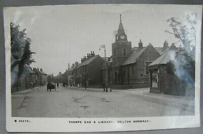An Real Photographic Postcard Of Melton Mowbray, Thorpe  End C. 1916 • 12£