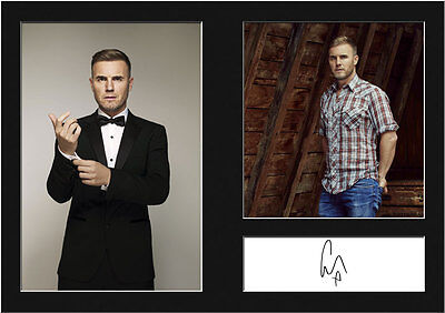 GARY BARLOW #1 Signed Photo Print A4 Mounted Photo Print - FREE DELIVERY • 5.99£