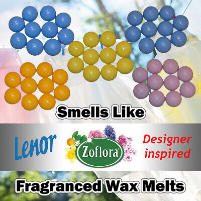 10 X Highly Scented Wax Melts Zoflora Lenor Designer Dupe Unstoppables Fragrance • 3.09£