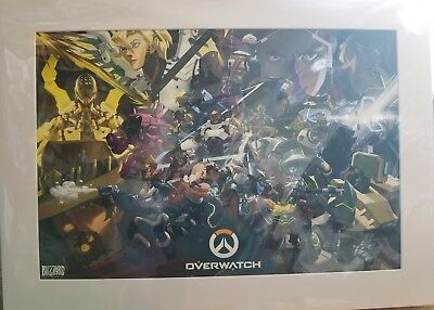 AU121.95 • Buy Blizzcon 2017 OVERWATCH Exclusive Limited Edition Art Print Matted Poster