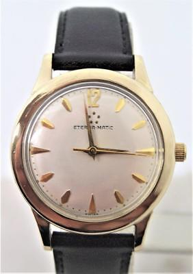 Vintage Mens 14k GF ETERNA-MATIC Automatic Watch 1950s Cal 1420U* EXNT* SERVICED • 322£