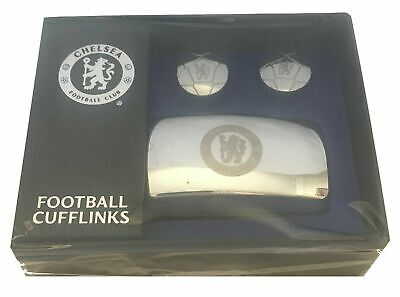 £8.99 • Buy Chelsea FC Licensed Executive Cufflinks Football Design Chrome Cuffs In Gift Box